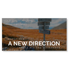 A New Direction XLarge Postcard