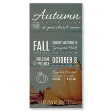 Autumn Activities XLarge Postcard