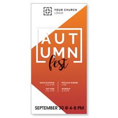 Autumn Fest XLarge Postcard