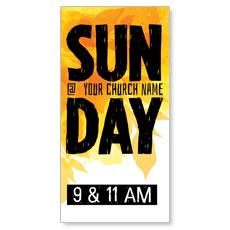 Bold Sunday XLarge Postcard