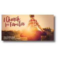 Church Families Dad and Son XLarge Postcard