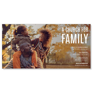 Church for Family Park XLarge Postcards