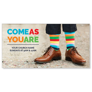 Come As You Are Socks XLarge Postcards