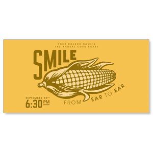 "Ear to Ear Smile 11"" x 5.5"" Oversized Postcards"
