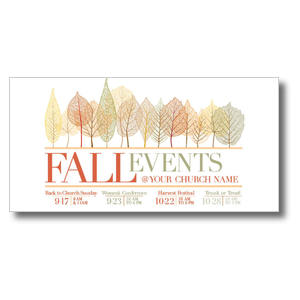 Fall Events Leaves Church Postcards