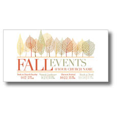 Fall Events Leaves XLarge Postcard