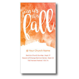 "Fall Orange Watercolor 11"" x 5.5"" Oversized Postcards"