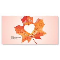 Heart Leaf XLarge Postcard