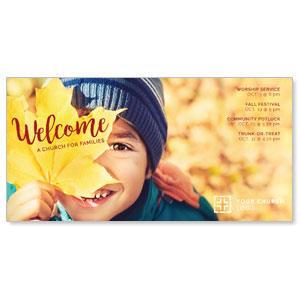 Leaf Kid XLarge Postcards