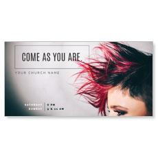 Mohawk Hair XLarge Postcard
