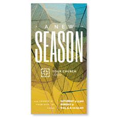 New Season Leaf Print XLarge Postcard