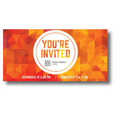 Orange Geometric XLarge Postcard