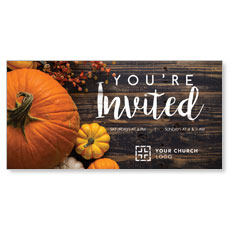 Pumpkins Youre Invited XLarge Postcard