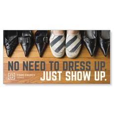 Show Up Shoes XLarge Postcard