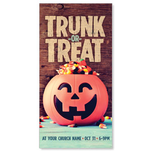 "Trunk or Treat 11"" x 5.5"" Oversized Postcards"
