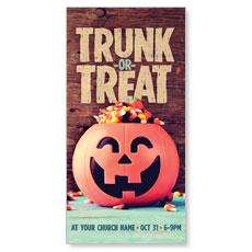 Trunk or Treat XLarge Postcard