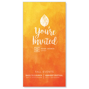 Youre Invited Orange XLarge Postcards