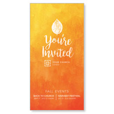 Youre Invited Orange XLarge Postcard