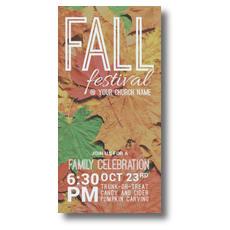 Fall Festival Leaves XLarge Postcard