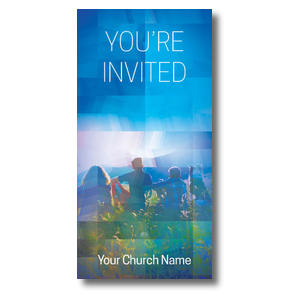Modern Mosaic Welcome Church Postcards