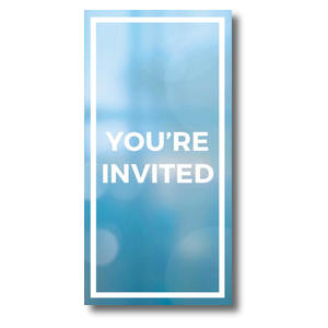 "Shimmer Welcome 11"" x 5.5"" Oversized Postcards"