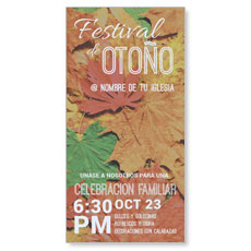 Fall Festival Leaves Spanish XLarge Postcard