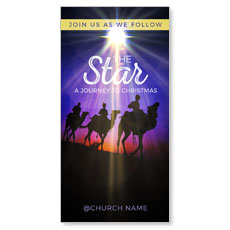 The Star A Journey to Christmas XLarge Postcard