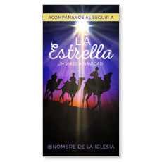 The Star A Journey to Christmas Spanish XLarge Postcard