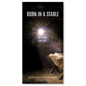Born In A Stable XLarge Postcards