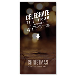 "Celebrate True Meaning 11"" x 5.5"" Oversized Postcards"