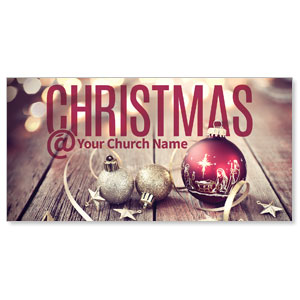 Christmas At Ornaments XLarge Postcards