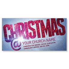 Christmas At Red Glitter XLarge Postcard