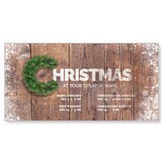 Christmas C Wreath XLarge Postcard