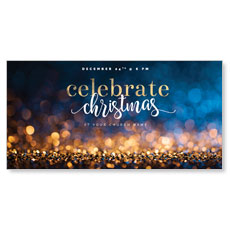 Glitter Sparkle Christmas XLarge Postcard