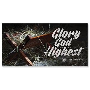 Glory God Manger XLarge Postcards