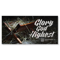 Glory God Manger XLarge Postcard