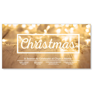 "Gold Lights 11"" x 5.5"" Oversized Postcards"