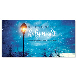 Holy Night Lamp Post XLarge Postcards