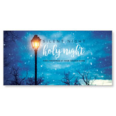 Holy Night Lamp Post XLarge Postcard