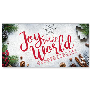 "Joy To The World Snow 11"" x 5.5"" Oversized Postcards"