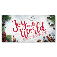 Joy To The World Snow XLarge Postcard