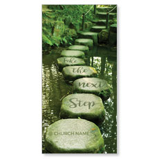 Next Step Green Path XLarge Postcard