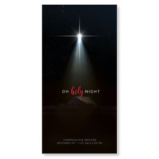 Oh Holy Night XLarge Postcard
