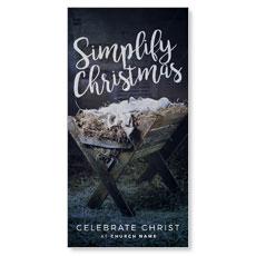 Simplify Christmas Manger XLarge Postcard