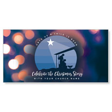 Unto Us Nativity Scene XLarge Postcard