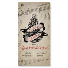 Vintage Sheet Music XLarge Postcard