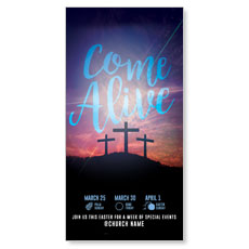 Come Alive Easter Journey XLarge Postcard
