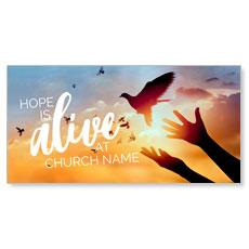 Alive Doves XLarge Postcard