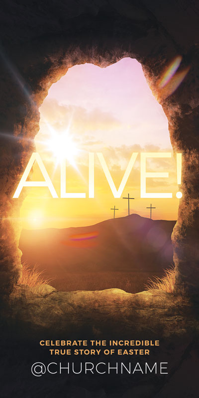 Church Postcards, Easter, Alive Sunrise Tomb, 5.5 x 11