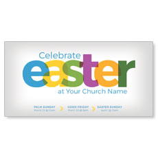 Color Bold Easter XLarge Postcard